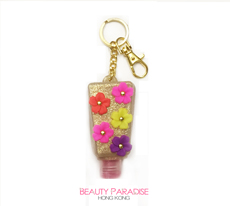 PocketBac Holder - Gold & Mult Color Flower