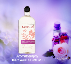 Aromatherapy - Body Wash & Foam Bath - Sensual - Black Currant Vanilla /295ml